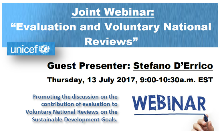 Webinar: Evaluation and Voluntary National Reviews