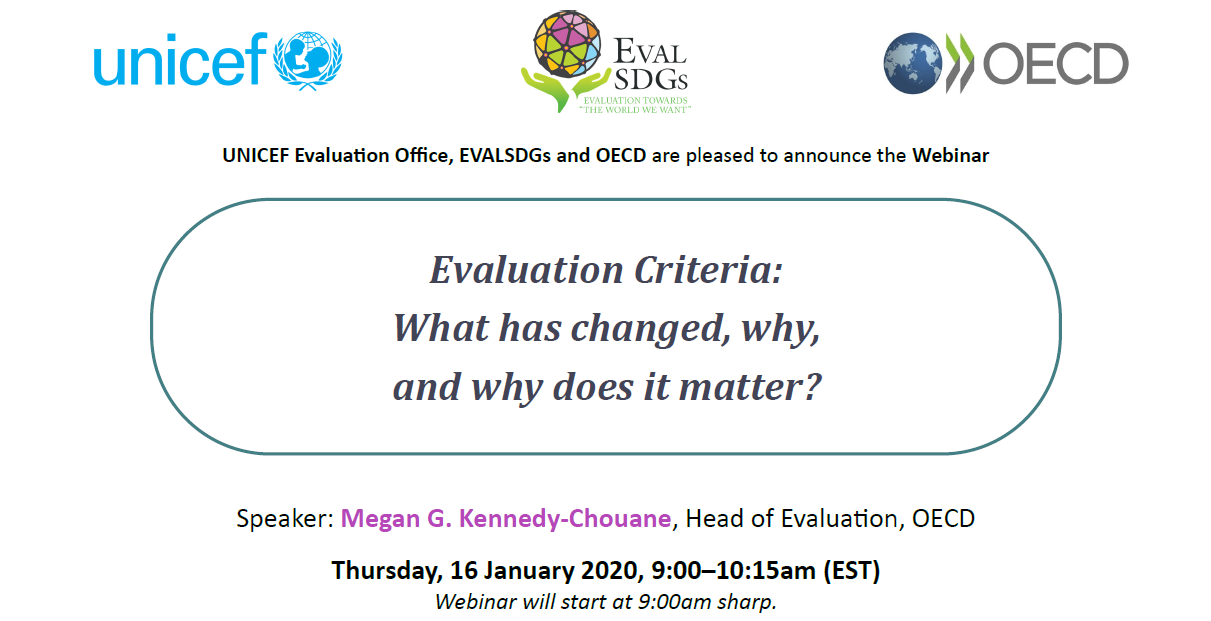 Webinar: Evaluation Criteria: What has changed, why, and why does it matter?