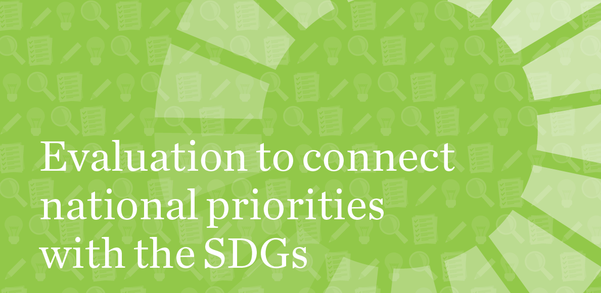 "Guidebook ""Evaluation to connect national priorities with the SDGs: a guide for evaluation commissioners and managers"" now available [EN
