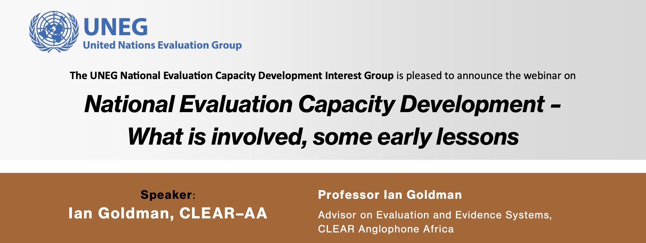 Webinar: National Evaluation Capacity Development – What is involved, some early lessons